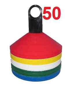 New-50-Field-Marking-Marker-Disc-Cones-Soccer-Football-Training-Free-Holder