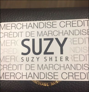 &159.85 Suzy SHIER Gift card for sale for $150.00