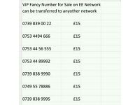 VIP Fancy Numbers for Sale on EE