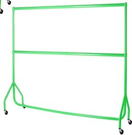Bright Green Heavy Duty Clothes Hanging Rail (6ft x 5ft)