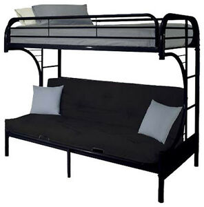 Single over double futon black bunkbeds