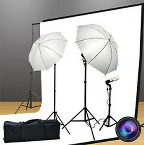 Photo & Video Starter Lighting Kits & Backgrounds