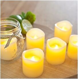 Votive Real Wax Battery Operated LED Tea Light Candles
