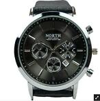North Horloge Business-Casual Zwart - Morgen in huis!