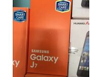 Samsung Galaxy j7 unlocked brand new box warranty