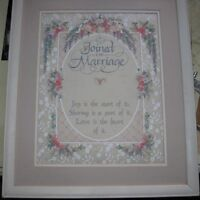 Ribbon embroidered wedding verse