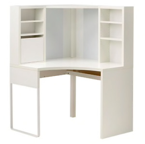 Corner work station, white