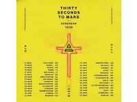 2 x Seating Tickets for 30 Seconds to Mars - Manchester NEXT TO STAGE