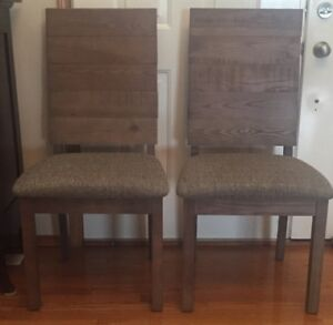 THTWO BRAND NEW DINNING CHAIRS WITH SOLID WOOD  BACKING FOR SALE