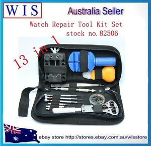 13 in 1 Watchmaker Watch Repair Case Tool Set KIT Opener Adjuster Remover -82506