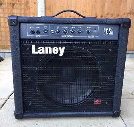 Laney BC-50 Bass Amplifier. 50 Watt amplifier for guitar, bass guitar, keyboard