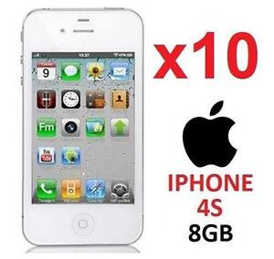 10 NEW APPLE IPHONES 4S 8GB LOCKED - 116868805 - WHITE - CELL PHONE - SMARTPHONE SMART PHONE - DEALER WHOLESALE LOTS