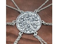 6 Slice Pizza Necklace's Great Gift Idea