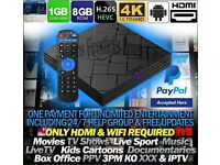 QuadCore Android TV Box 4K HD with IPTV
