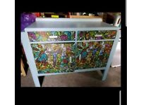 Upcycled Art Deco Style Sideboard