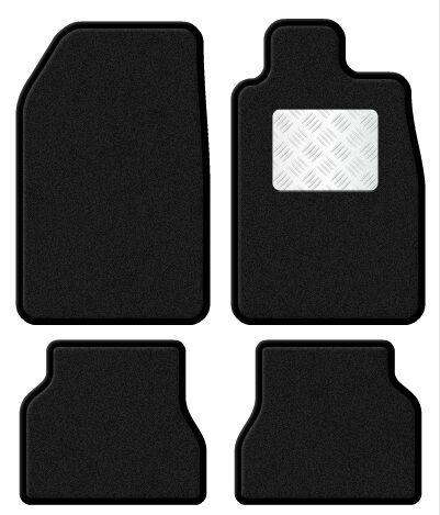 Lexus IS 200 98-05 Velour Black/Black Trim Car mat Set with Metal Heal Pad