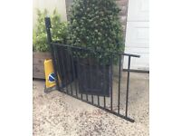 Wrought iron railings for balcony and stairs