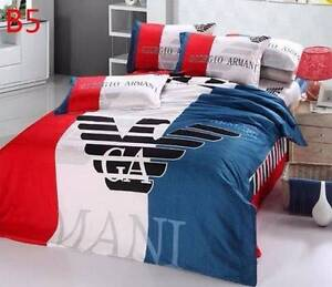 NEW GIORGIO ARMANI 4 PC QUEEN BED QUILT COVER PILLOWCASES SHEET Greenwith Tea Tree Gully Area Preview