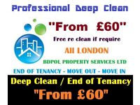 Professional End of Tenancy / Move in / Out / Deep Cleaning / Carpet shampoo wash