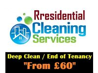 Short Notice Deep Clean / Move out Clean From £60 Low rates - Free 1 ROOM CARPET WASH