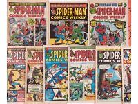Marvel comics spiderman weekly 1-290 + more !