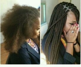 boxbraids twist cornrows pick&dropbraids fauxlocs weaves from £40