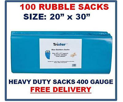 100 Rubble Sacks, 400g, 20 x 30