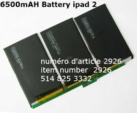 High Quanlity Replacement 6500mAH Battery CSUG For iPad 2 2nd