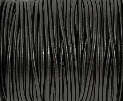 2mm Black Round Leather Cord 10 Yards Genuine Leather Cord 136 Genuine Round Leather Cord