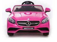 Licensed Mercedes S63 ride on car with remote control music & lights (leeds) only £175