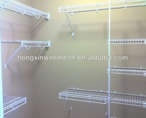 White wire shelving