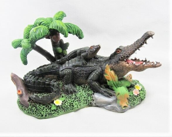 Alligator in the Tropical Swamp w/Baby Wild Life Figurine