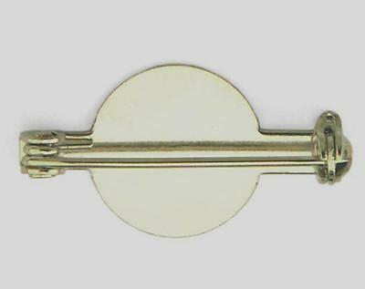 10 Pieces 25mm Brooch Back With 14mm Pad  Nickel Plated