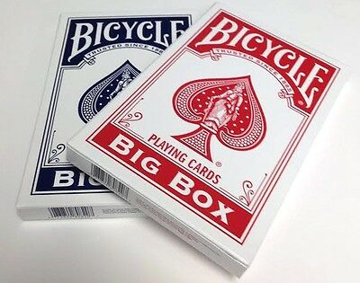 Bicycle Big Box Red Playing Cards Deck New