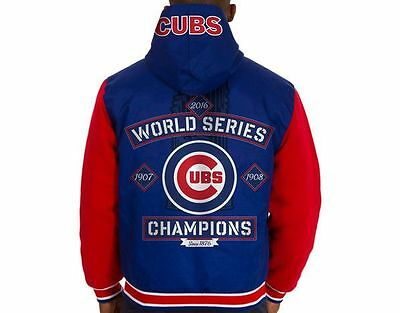 Chicago Cubs 2016 World Series Champion Jackets Reversible Royal Red  Free Item