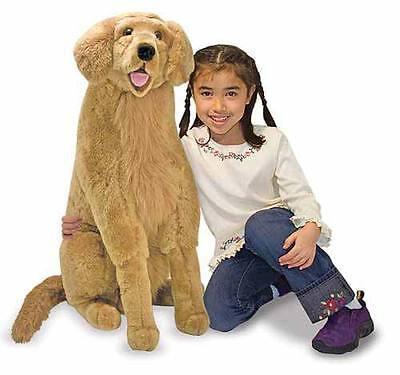 Melissa and & Doug Plush Animal Stuffed dog - Golden Retriever - New