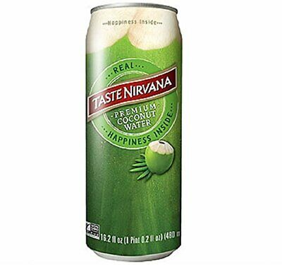 Taste Nirvana Real Premium 16.2 Ounce Cans Coconut Water 194.4 Fl Oz Pack of 12
