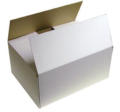 5 x White Postal Storage Single Walled Cardboard Box