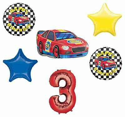 Race Car Theme 3rd Birthday Party Supplies Stock Car Balloon Bouquet Decorations](Race Car Birthday Party Supplies)