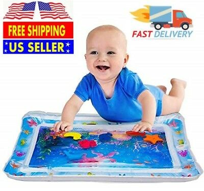 Best Tummy Time Water Play Mat for Kids n Baby,Large (26 X 20),6 sea toys in