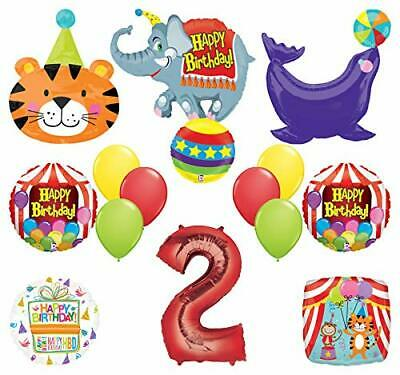 Mayflower Products Circus Theme Big Top 2nd Birthday Party Supplies and Balloon (Circus Theme)