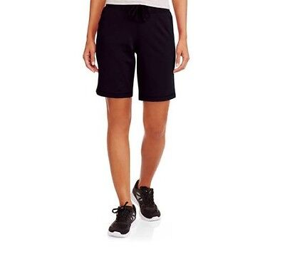 Athletic Works Women's Active French Terry Bermuda Black Shorts Size M (8/10)