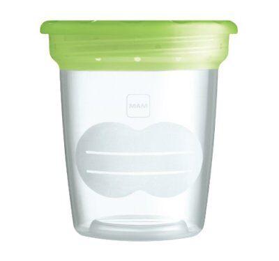 Becher MAM Aufbewahrung Set Muttermilch Babynahrung Kühlschrank Dosen Behälter