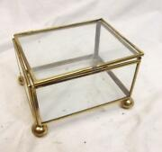 Brass Glass Box