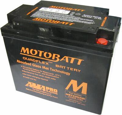 Harley Davidson Replacement Sealed Battery Motobatt MBTX20UHD Same as MBTX20U