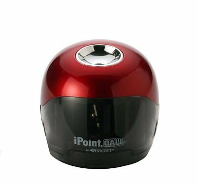 Westcott Ipoint Ball Battery Pencil Sharpener - Red Black 1557040