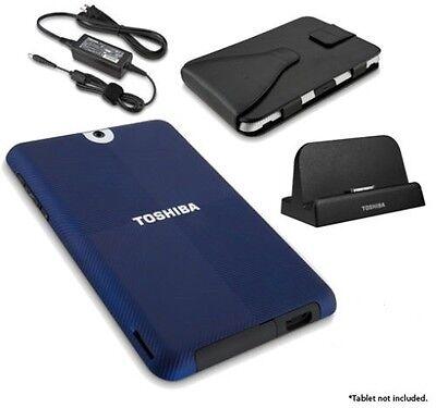 Toshiba Thrive Bundle W/dock,ac Adapter,carrying Case Blu...