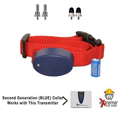 Extreme Dog Fence Add-On or Replacement Receiver Collar - G2 + Free Blue Strap!