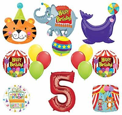 Mayflower Products Circus Theme Big Top 5th Birthday Party Supplies and Balloon - Circus Theme Supplies