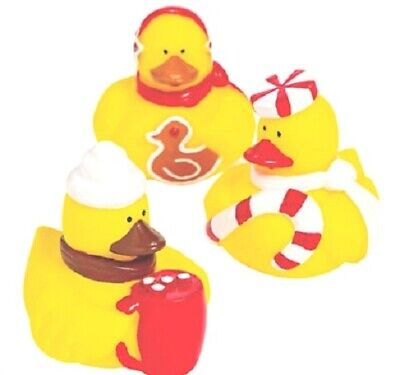 Christmas Rubber Duckies (Christmas Foods Rubber Duckies Set of 3 *Free S/H Buy More Save)